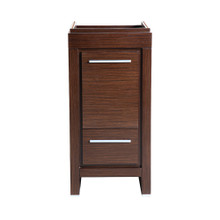 "Fresca  FCB8118WG Fresca Allier 16"" Wenge Brown Modern Bathroom Cabinet"