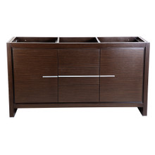 "Fresca  FCB8119WG Fresca Allier 60"" Wenge Brown Modern Double Sink Bathroom Cabinet"