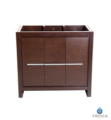 "Fresca  FCB8136WG Fresca Allier 36"" Wenge Brown Modern Bathroom Cabinet"