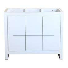 """Fresca  FCB8140WH Fresca Allier 40"""" White Modern Bathroom Cabinet"""