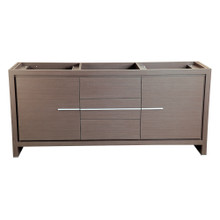 "Fresca  FCB8172GO Fresca Allier 72"" Gray Oak Modern Double Sink Bathroom Cabinet"