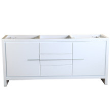 "Fresca  FCB8172WH Fresca Allier 72"" White Modern Double Sink Bathroom Cabinet"
