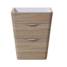 "Fresca  FCB8525WK Fresca Milano 26"" White Oak Modern Bathroom Cabinet"