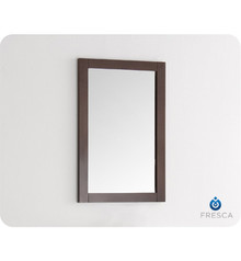 "FMR2301AC Fresca Greenwich 20"" Antique Coffee Traditional Bathroom Mirror"