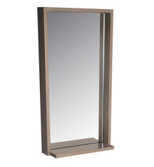 "FMR8118GO Fresca Allier 16"" Gray Oak Mirror with Shelf"