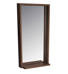 "FMR8118WG Fresca Allier 16"" Wenge Mirror with Shelf"