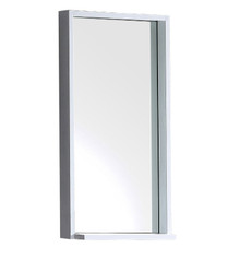 "FMR8118WH Fresca Allier 16"" white Mirror with Shelf"
