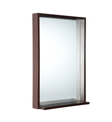 "FMR8125WG Fresca Allier 22"" Wenge Mirror with Shelf"