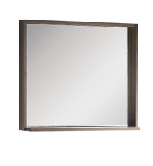 "FMR8130GO Fresca Allier 30"" Gray Oak Mirror with Shelf"