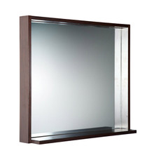 "FMR8136WG Fresca Allier 36"" Wenge Mirror with Shelf"