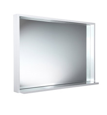 "FMR8140WH Fresca Allier 40"" White Mirror with Shelf"