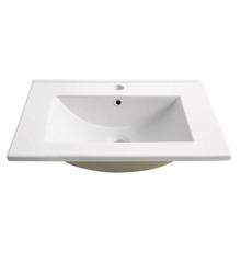 "FVS6224WH Fresca Torino 24"" White Integrated Sink / Countertop"