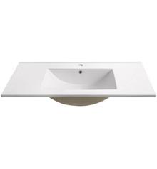 "FVS6236WH Fresca Torino 36"" White Integrated Sink / Countertop"