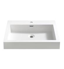 "FVS8006WH Fresca Nano 24"" White Integrated Sink / Countertop"