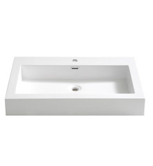 "FVS8030WH Fresca Livello 30"" White Integrated Sink / Countertop"