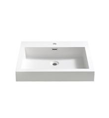 "FVS8058WH Fresca Alto 23"" White Integrated Sink / Countertop"