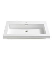 "FVS8080WH Fresca Medio 32"" White Integrated Sink / Countertop"