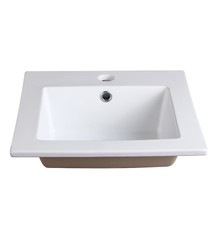 "FVS8118WH Fresca Allier 16"" White Integrated Sink / Countertop"