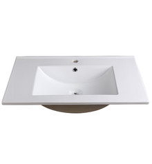 "FVS8130WH Fresca Allier 30"" White Integrated Sink / Countertop"