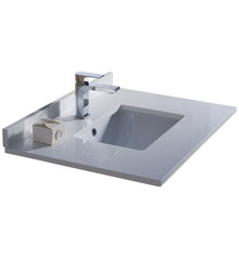 """Fresca FCT2030WH-U Oxford 30"""" White Countertop with Undermount Sink"""