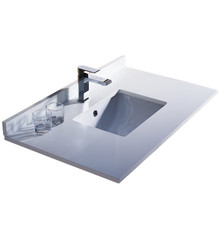 """Fresca FCT2036WH-U Oxford 36"""" White Countertop with Undermount Sink"""