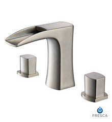 FFT3076BN Fresca Fortore Widespread Mount Bathroom Vanity Faucet - Brushed Nickel