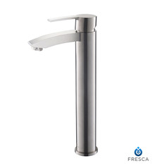 FFT3112BN Fresca Livenza Single Hole Vessel Mount Bathroom Vanity Faucet - Brushed Nickel