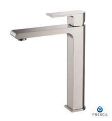 FFT9152BN Fresca Allaro Single Hole Vessel Mount Bathroom Vanity Faucet - Brushed Nickel