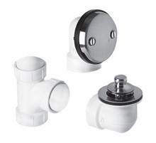 Mountain Plumbing  BDWPLTA-BRN Universal Economy Lift & Turn Plumber's Half Kit for Bath Waste and Overflow  - Brushed Nickel