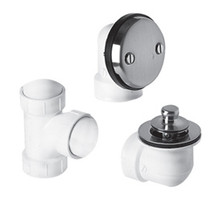 Mountain Plumbing  BDWPLTA-SC Universal Economy Lift & Turn Plumber's Half Kit for Bath Waste and Overflow  - Satin Chrome