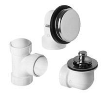 Mountain Plumbing  BDWUNLTA-SC Universal Deluxe Lift & Turn Plumber's Half Kit for Bath Waste and Overflow  - Satin Chrome