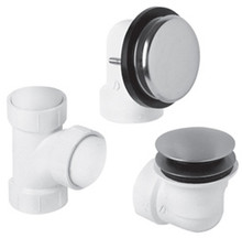 Mountain Plumbing  BDWUNVA-CPB  Soft Toe Touch Style Plumber's Half Kit for Bath Waste and Overflow  - Polished Chrome