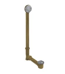 Mountain Plumbing HBDWLT45-SC Economy Lift & Turn Style Bath Waste and Overflow Drain - Satin Chrome