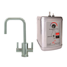 """Mountain Plumbing MT1831DIY-NL-SC """"The Little Gourmet"""" Instant Hot & Cold Water Faucet With Heating Tank - Satin Chrome"""