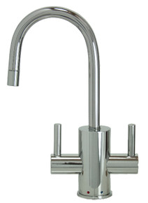 "Mountain Plumbing MT1841-NL-PVDPN ""The Little Gourmet"" Instant Hot & Cold Water Faucet - PVD Polished Nickel"