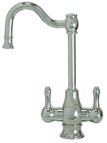 "Mountain Plumbing MT1871-NL-CPB ""The Little Gourmet"" Hot & Cold Water Faucet - Polished Chrome"
