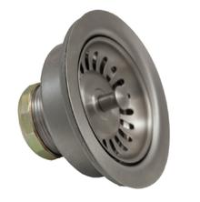 "Mountain Plumbing MT303-BRN 3-1/2"" Deluxe Stemball Kitchen Sink Strainer - Brushed Nickel"