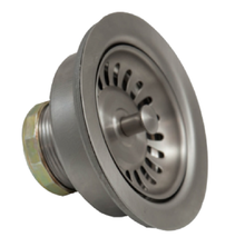 "Mountain Plumbing MT303-SC 3-1/2"" Deluxe Stemball Kitchen Sink Strainer - Satin Chrome"