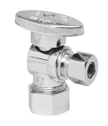 Mountain Plumbing MT403-NL-PVDBB Brass Oval Handle Angle Valve - PVD Brushed Bronze