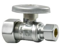 Mountain Plumbing MT410-NL-SC Brass Oval Handle Straight Valve - Satin Chrome