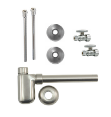 Mountain Plumbing MT4420-NL-BRN Lavatory Supply Kit - Straight - Brushed Nickel