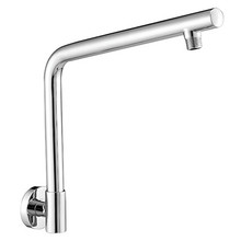 "Mountain Plumbing MT28-PN 12"" Round Shower Riser Arm - Solid Brass - Polished Nickel"