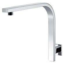 """Mountain Plumbing MT29-BRN 12"""" Square Shower Riser Arm - Solid Brass - Brushed Nickel"""