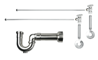 Mountain Plumbing MT401MASS-NL-PN New England Lavatory Supply Kit - Angle - Polished Nickel
