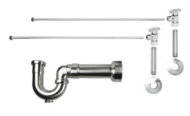 Mountain Plumbing MT401MASS-NL-SC New England Lavatory Supply Kit - Angle - Satin Chrome