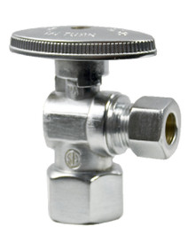 Mountain Plumbing MT401-NL-BRN Brass Oval Handle Angle Valve - Brushed Nickel