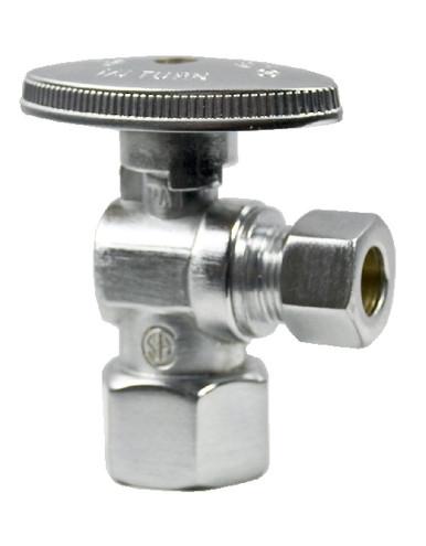 Mountain Plumbing MT401-NL-CPB Brass Oval Handle Angle Valve - Polished Chrome