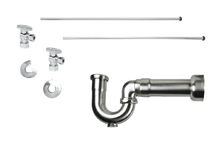 Mountain Plumbing MT403MASS-NL-BRN New England Lavatory Supply Kit - Angle - Brushed Nickel