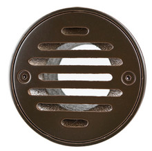 """Mountain Plumbing MT507-GRID-PVDBB 4"""" Round Solid Nickel Bronze Plated Drain Grid - PVD Polished Bronze"""