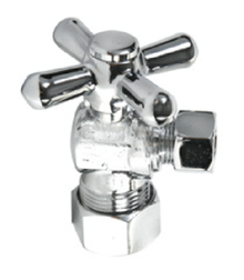 Mountain Plumbing MT616-NL-PN Mini Cross Handle Angle Valve - Polished Chrome